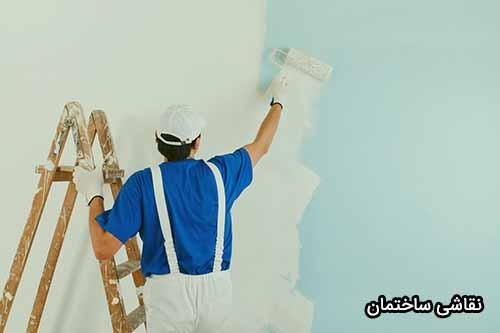 نقاشی ساختمان در قزوین
